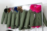Wholesale 2016 Parkas For Women Winter Army Green Wadded Coat Large natural real fur Collar Thick Jacket Outerwear Female Snow Wear Brand