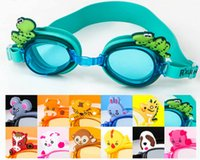 Wholesale Chinese zodiac children swimming goggles Baby child goggles cartoon goggles Waterproof anti fog swimming glasses