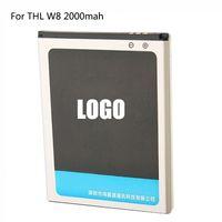 Original de reemplazo de THL W8 batería del teléfono móvil 2000mAh de polímero de iones de litio incorporada de Batería Para THL W8 W8S Copia de seguridad Batería 1 Pieza