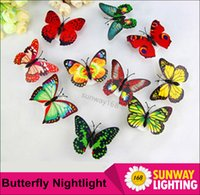 Wholesale Colorful Fiber Optic Butterfly Nightlight W LED Butterfly For Wedding Room Night Light Party Decoration