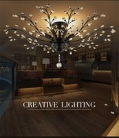 Wholesale Contemporary Crystal Ceiling Light Fixtures - Crystal LED Flush Mount Light with 4 5 6 Lights Modern Contemporary Ceiling Light Fixture Chandelier for Kitchen Dining Room Living Room