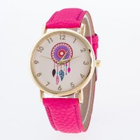 battery manufacture - Dreamcatcher Friendship Women Ladies Watches Rose Gold Dial Leather Watches Manufacture Geneva Watch New Arrival Leather Watches