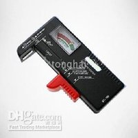 Wholesale Battery Tester Universal Handheld battery Volt checker tester AA C D V V Button BT black