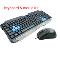 Wholesale Keyboards usb gaming keyboard and mouse set round mouth Keyboard Computer Accessories Large palm rest design