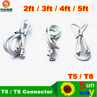 accessories tube - led accessory wire t8 t5 ft ft ft ft ft Cable for Integrated T8 T5 led tubes lights Connector CE ROHS UL DLC