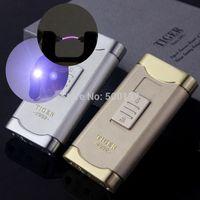 arc hp - Tiger Brand Rechargeable lighter Electronic lighter Cigarette USB Windproof Arc Lighter W Led Lighter HP