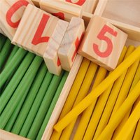 Wholesale 52 Counting Stick Wooden Mathematics Material Educational Toy for Kid Child