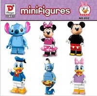 Wholesale 2016 set Collector s edition Minifigures Mickey Minnie Donald Duck Daisy Stitch Genie Building Block Bricks Kids Gift Christmas Toys