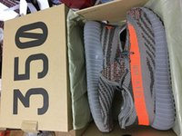 Wholesale Season SPLY Boost V2 With Original Box Black White Kanye West Grey Orange Running Shoes Sneakers Boost V2