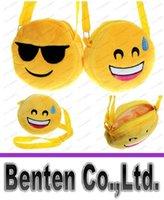 Wholesale 12 Designs baby Emoji Bags Kids Cross Body Shoulder Bags D Expression Kawaii Plush purse bag LLFA