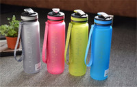 Wholesale DHL ML ML Eco Friendly Tritan BPA Free sports Water Bottles Scrub coffee tea milk Space Cup climbing Hiking Cycling Bottle