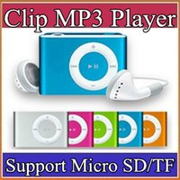 Wholesale Mini Clip MP3 Player HOT Cheap Colorful Sport mp3 Players Come with Earphone USB Cable Retail Box Support Micro SD TF Card A MP
