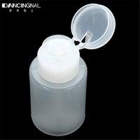 acetone plastics - 150ml Big Pump Dispenser Nail Art Tool Polish Remover Cleaner Bottle Acetone Plastic Holder Fingernail DIY Tools