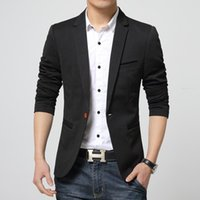 Wholesale 2016 New Fashion Brand Men Blazer Men Badge Casual Suit Jacket Men Slim Fit Suits High end Men Suit Plus Size XL