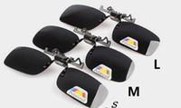 Descuento manera barata clip de la lente polarizada Día de la noche se levanta hacia arriba Vision Gafas de sol de ciclo de conducción Gafas Gafas S, M, L 4Colors