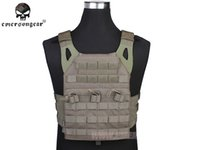 Wholesale JPC Vest Hunting Airsoft Painball Army Combat Gear Emersongear Tactical Simplified Version FG EM7344B Foliage Green