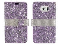 Wholesale Hybrid Bling Rhinestone Diamond Wallet Cover Case Credit Card Slot for Samsung Galaxy S8 Plus S8 On5 S7 Plus J3 Prime Motorola Moto E4