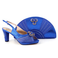 ankle wallet - Africa Women Shoes and Bags matches set wallet pouch fan design elegant PU leather Stones for wedding party high class fashion high heels
