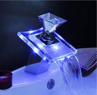 bathtub shower plumbing - 2015 New Sale Sink Led Faucet Single Diamond Handle One Hole Bathtub Mixer Taps Bath Shower Faucets Lavatory Plumbing Fixtures