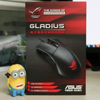 asus gaming mouse - Authentic Asus P501 A ROG Gladius Gaming Mouse Color Gift Box dpi eSports game wired optical Mouse