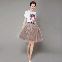 Wholesale Fashion Teen Summer Dresses Crew Neck Short Sleeve Sequins Animal Print Shirts Organza Dresses Ladies Clothing