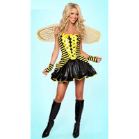 bee costumes for adults - Sexy Adult Bumble Bee Costume Dress Women Halloween Costume Halloween Carnival Party Buzzing Bee Costume For Women L15279