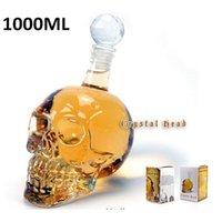 glass wine bottle - 1 piece ml Skull Head Vodka Bottle Glass Skull Wine Bottle Crystal Skull Bottle