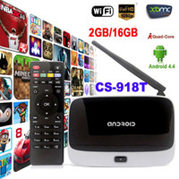 Wholesale WiFi TV Set Top Box XBMC DLNA OTG P Bluetooth Quad Core ARM Cortex A7 Rockchip RK3128t CS T G G Android TV Box