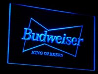 Wholesale a009 Budweiser King Beer Bar Pub Club LED Neon Light Sign Cheap light box sign