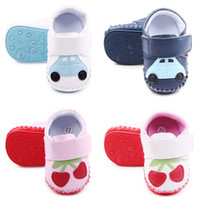 Wholesale 2016 lovely cherry car baby sports shoes Soft rubber toddler Casual walking shoes fall kids shoes non slip girls boys shoes pairs C