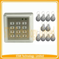 Wholesale Waterproof RFID Card Keypad Code Keyfobs Access Control System ID Cards Key Fobs