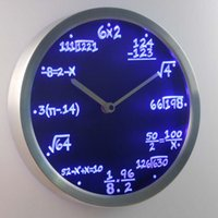 Wholesale Math Class Algebra Formula Mathematics Teacher gift Neon LED Wall Clock