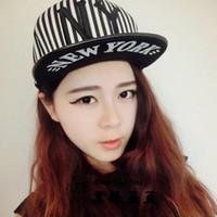 Wholesale Harajuku hiphop hip hop cap flat brimmed hat BOY tide Korean men and women Hip hop skateboard hat baseball cap hat NY