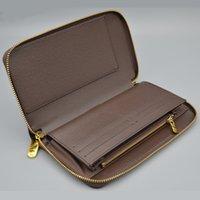 Wholesale New Men Famous Brand Wallets Fashion Men Purse Arteira Masculina Long Coin Pocket Men Purse Luxury L Brand Carteras With Box L20