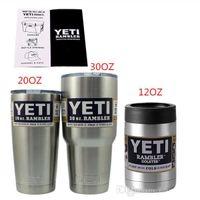 Wholesale Vacuum Cup YETI OZ OZ OZ Rambler Tumbler Stainless Steel Travel Vehicle Beer Mug Big Cups Mug Bottle YETI Rambler Tumbler