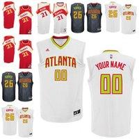 atlanta hawk - Men s Atlanta Dominique Wilkins Kyle Korver Custom Home Hawks customized made any name any number