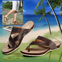cheap slippers - Buy Cheap Summer Men s Flip Flops Fashion Men Slippers Sandals For Men Platform Male Shoes Casual Beach Mens Slipper Genuine Leather Flat