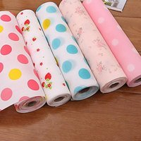 bedroom drawers - 5pcs Drawer Paper Plastic Printed Wallpaper Colorful Waterproof Mat Wardrobe Kitchen Cabinet Pad For All Purpose Multi Colors