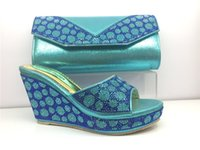 bag buckle suppliers - Beautifully fine and gracefully delicate Africa lady purse matching Italian shoe and bag set bags guang zhou supplier DS29
