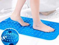 Wholesale New Bath Mats Antislip Massage Mats Colorful Bathroom Pierced PVC Plastic Safe Pad with Suction Cups