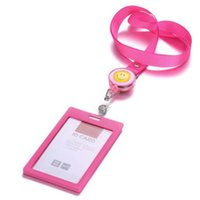 Wholesale 10 Badge Holder with Lanyard New fashion Business ID Badge Card Vertical Holders Office school supplies Papelaria