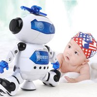Wholesale Electronic Walking Dancing Smart Space Robot Astronaut With Music Light degree move Toys For Kids Best Gift Electric toy robot