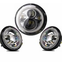 angle eyes headlight - 1 set Inch Round LED Headlights with Angle Eyes DRL w quot LED Halo Ring Fog DRL Light for harley