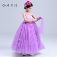 ankle shop - purple flower girl dresses shopping online flower dress girl long flower girl dress high quality handmade flower direct from china