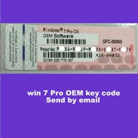 Wholesale 2016 brand new win7 pro OEM key code bit and bit Online activation work send by email