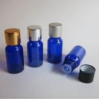 aluminum cobalt - x ml Cobalt blue glass essential oil bottle with aluminum lids cc blue glass essential oil container