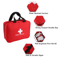 bandages for burns - First Aid Kit For Survival Slight Emergencies Compact contain used for home Outdoors Activities Red
