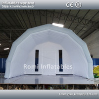 Wholesale Custom mWx3mHx3mD light grey white inflatable stage tent oxford cloth tent inflatable canopy inflatable cover