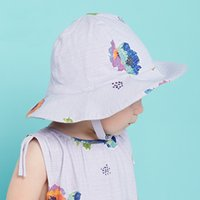 bella baby sun hat - DAVE BELLA summer cotton child kid infant toddler baby girl summer cap hat floral bucket hat sun hats children baby girl accessories