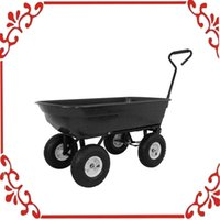 Wholesale 650LB Garden Dump Cart Dumper Wagon Carrier Wheel Barrow Air Tires Heavy Duty